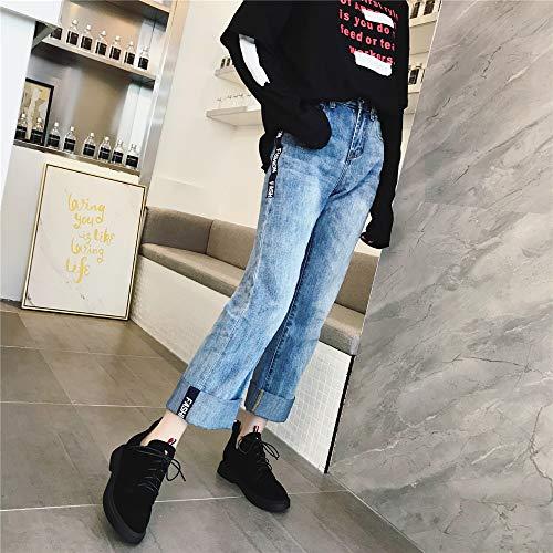 Shirloy Scarpe E Nero Tracolla Sexy Confortevole Glamour Donna Martin Temperamento Rotoncasual Piatte Pelle Stivali In UwUqrO