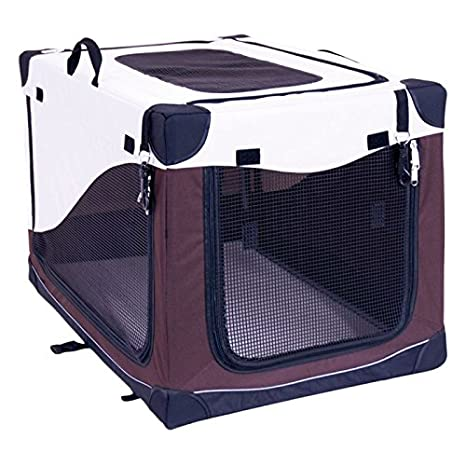 animalmarketonline Transportín Caseta jaula bolsa plegable l color L 91 X P 61 x H 58 cm: Amazon.es: Productos para mascotas