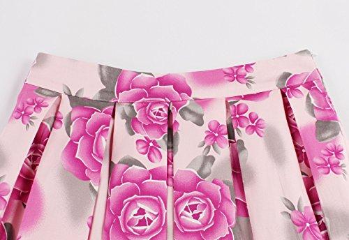 VKStar - Vestido - Noche - para mujer Rot Blumen
