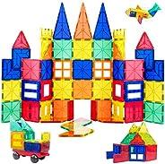 ORRENTE Magnetic Blocks, Magnetic Building Blocks Set for Boys/Girls, Magnetic Tiles Educational STEM Toys for