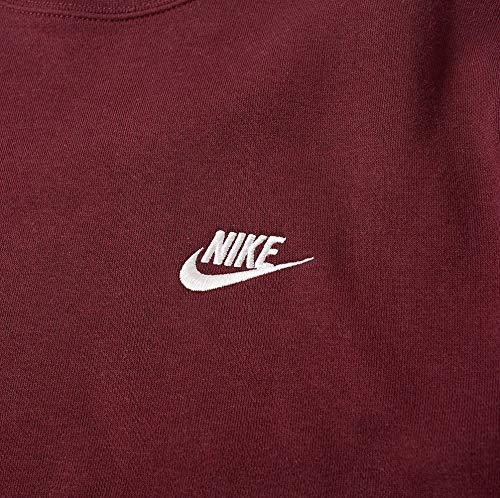 Nike Nsw Crw Uomo Maroon white Felpa Night Bb M Club r4wUBWqrZ