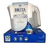 water filter pitcher costco Brita Lake Model White 10 cup