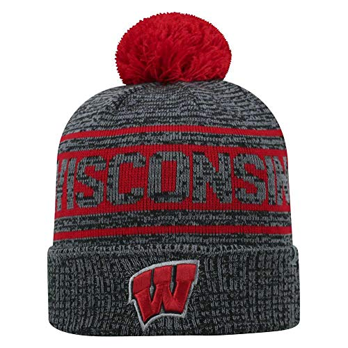 02651f64c2992 Wisconsin Badgers Knit Hats. Top of the World Wisconsin Badgers Official  NCAA ...