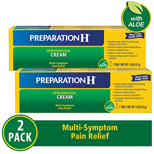 - Preparation H Hemorrhoid Symptom Treatment Ointment, Itching, Burning & Discomfort Relief, Tube (1.8 oz, 1 Tubeper box), (Pack of 2)