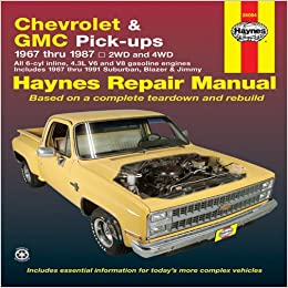 Chevrolet gmc pick ups 1967 thru 1987 haynes repair manual chevrolet gmc pick ups 1967 thru 1987 haynes repair manual 1st edition fandeluxe Images