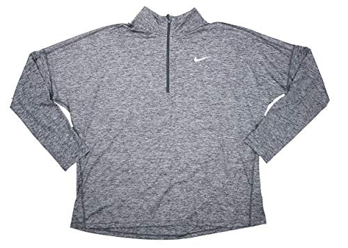 Element Nike Top 1 heather Plus Silver 2 Zip Grey reflective Taille Dark Running Femme Dry rZrB5w