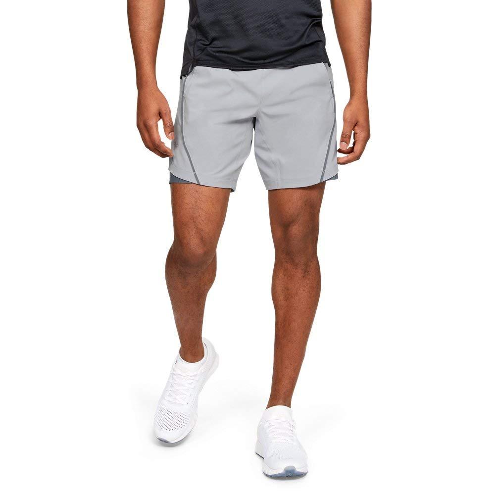 Under Armour Men's Speedpocket 8'' Linerless Shorts, Mod Gray//Reflective, Small