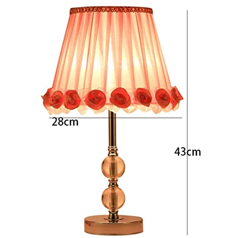 AOLI Cálido y romántico Lámpara de Mesa de Cristal ...
