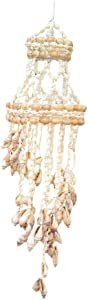 Whiidoom Natural Seashell Wind Chime Colorful Sea Shell Hand-made Wind Bell Decoration