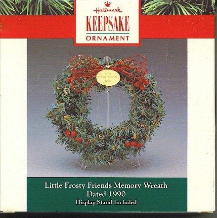 Hallmark Keepsake Ornament 1990 Frosty Friends Memory Wreath (Ornament Frostys Favorite)