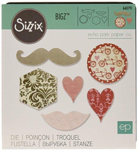 Sizzix 660791 Kiss Mix Bigz Die by Echo Park Paper - Steel Rule Die