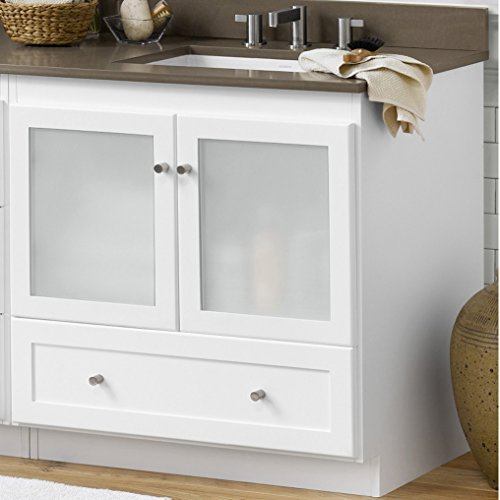 RONBOW ESSENTIALS Shaker 30 Inch Bathroom Vanity Cabinet Base in White Finish, -