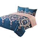 Phoenix tree Duvet Cover, Protects and Covers Your Comforter/Duvet Insert, Luxury 100% Super Soft Microfiber, 3 Piece Duvet Cover Set Includes 2 Pillow Shams(King,Hera)