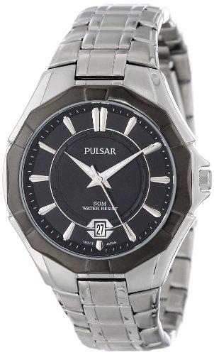 Pulsar Unisex PS9095 Analog Japanese-Quartz Silver Watch