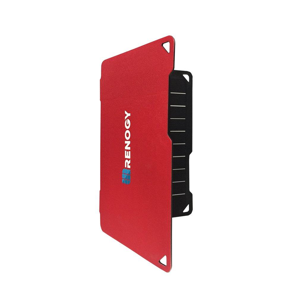 RENOGY – E.FLEX – Portable Monocrystalline Solar Panel Charger with USB Port (10 Watt) - Red