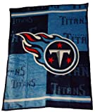 NFL Football Tennessee Titans Blanket Mink Raschel Plush Throw Twin 60 X 80 Acrylic Heavy