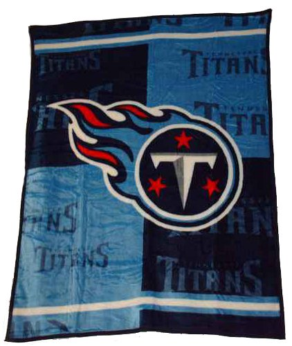 Tennessee Titans Blanket - NFL Football Tennessee Titans Blanket Mink Raschel Plush Throw Twin 60 X 80 Acrylic Heavy