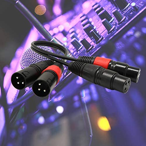 Extension Cable 3-Pin Male to Female Cannon Cable Cord Audio Stereo Balance Extension Cable for Microphone Universal Live Equipment