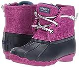 Sperry Girls' Saltwater Snow Boot, Navy/Magenta, 4