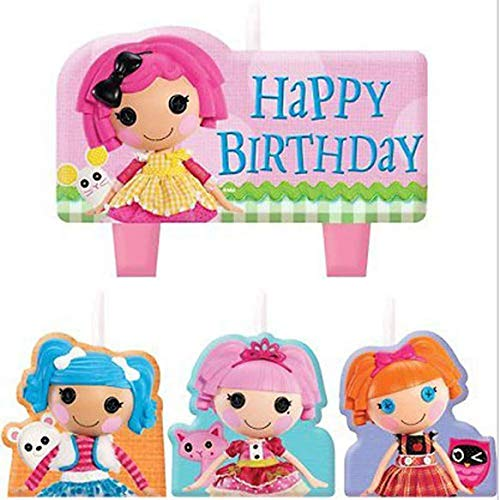 LALALOOPSY MINI CANDLE SET (4pc) ~ Birthday Party Supplies Cake Decorations]()