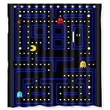 Shower Curtain Video Game Childhood Memories Waterproof Bathroom Blue, Polyester Mildew Proof Bath Curtain 66''(W) x72(L).