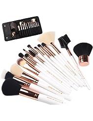 ZOREYA Makeup Brushes Premium Luxury 15pc Rose Gold...