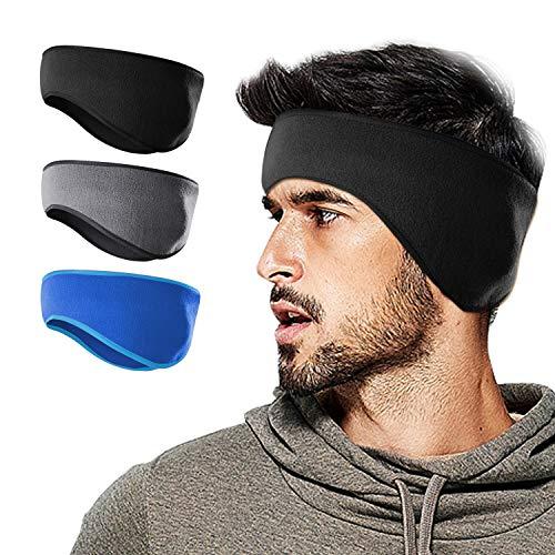 Headband Fleece (WMINHUI Fleece Ear Warmers/Muffs Headband for Men & Women & Kids Perfect for Cycling Skiing Workout Yoga Running & Riding Motorcycle in Winter - Stay Warm & Performance Stretch)