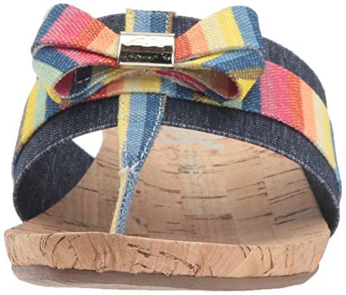 Anne Klein Donna Impeccabile Scivolo Sandalo In Corallo Multi