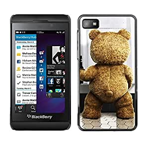 For Blackberry Z10 - Funny Cute Teddy Bear /Caja protectora de pl???¡¯????stico duro de la cubierta Dise???¡¯???¡Ào Slim Fit/ - Super Marley Shop -