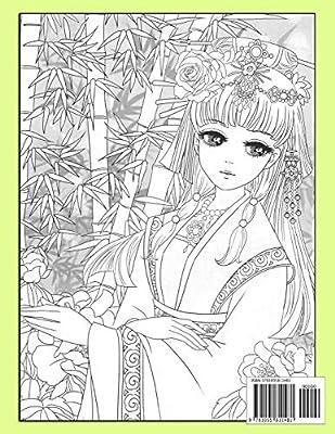 Kimono Coloring Page - Free Beautiful Ladies Coloring Pages :  ColoringPages101.com | 400x309