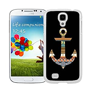 BINGO nice gifts Aztec Anchor Watercolor Samsung Galaxy S4 i9500 Case White Cover