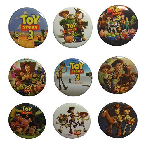 Toy Story Buttons Badges 9 Pcs Set #1 (Woody Button)