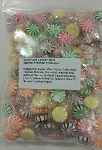 Starlight Fruit Discs 2 Lbs Bulk Hard Candy Approximately 175 Pieces ()