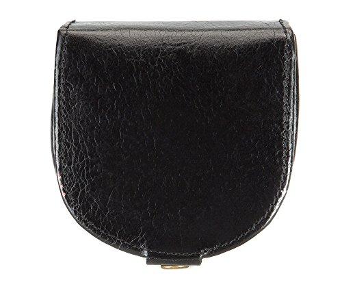 WITTCHEN portafoglio, Nero, Dimensione: 8x7.5 cm - Materiale: Pelle di grano - 21-2-156-1