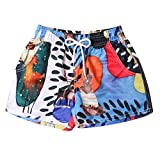 Respctful ❤ Unisex Beach Shorts Summer Casual Cotton Pants Plus Size Beach Shorts High Waist with Drawstring