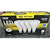 Feit LED Dimmable BR30 Flood Soft White Bulbs 65 Watts 4 Pack