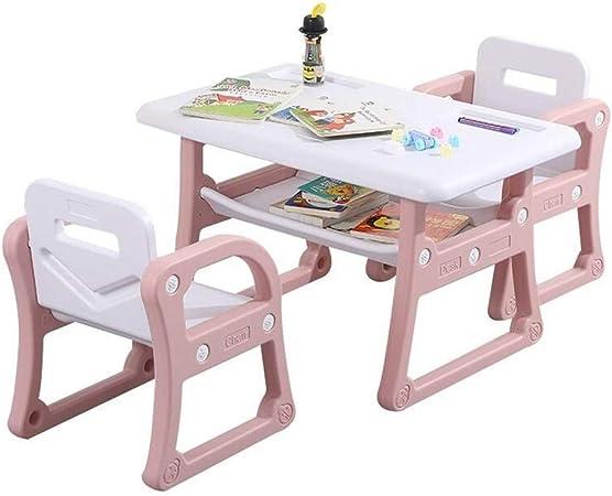 CHAXIA Silla De Mesa Infantil Juego Aprendizaje Comedor Educación Temprana Mesas Y Sillas Durable Fácil De Limpiar, Polvo De Cereza Roland (Color : Pink, Size : A): Amazon.es: Hogar