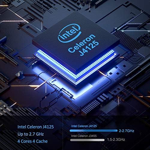Mini PC, ACEPC Mini Computer Windows 10 Pro Intel Celeron J4125 Processor(up to 2.7GHz) Desktop Computer, 4GB DDR4/64GB eMMC, Support UHD 4K@60Hz, 2.4G/5.0G Dual Band Wi-Fi, BT 4.2