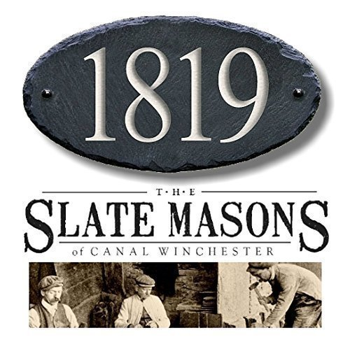 HOUSE NUMBERS ( CARVED SLATE ) Address Plaque Marker Sign Mailbox #1S ()
