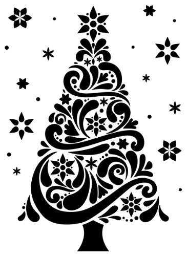 Darice 1218-118 Embossing Folder, 4.25 by 5.75-Inch, Geo Christmas Tree Design (Templates Darice)