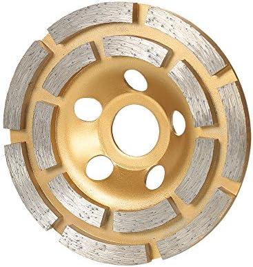 KKmoon ダイヤモンド カップサンダー 研削ホイールディスク ダイヤモンド砥石 100mm 穴径20mm 切断用 グラインディングホイール 2列セグメント