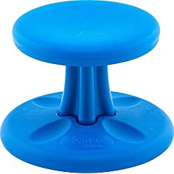 Kore Patented Wobble Chair | Now with Antimicrobial Protection | Stem Flexible Seating | Made in The USA - Active Sitting for Kids - Toddler, Blue (10in)