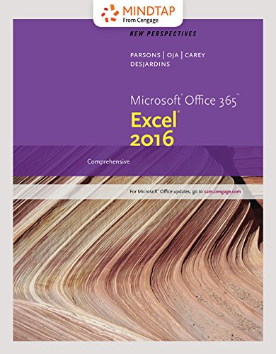 Bundle: New Perspectives Microsoft Office 365 & Excel 2016: Comprehensive, Loose-leaf Version + MindTap Computing, 1 term (6 months) Printed Access Card by Cengage Learning