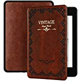 Ayotu Magic Book Series Case for Kindle Paperwhite 2018 - PU Leather Smart Cover with Auto Wake/Sleep - Fits Amazon All-New Kindle Paperwhite Leather Cover (10th Generation-2018),K10 Retro Brown