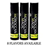 Moroccan Magic Organic Lemon Thyme Lip Balm 3 Pack | Made with Natural Cold Pressed Argan and Essential Oils | High Quality Lip Balm | Smooth Application | Non-Toxic, Cruelty Free