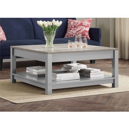 Amazoncom Elegant Functional Square Wood Coffee Table Bottom