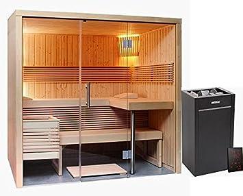 Sauna 214 x 160 Glas Harvia Virta Saunaofen HL90 Xenio Steuergerät ...