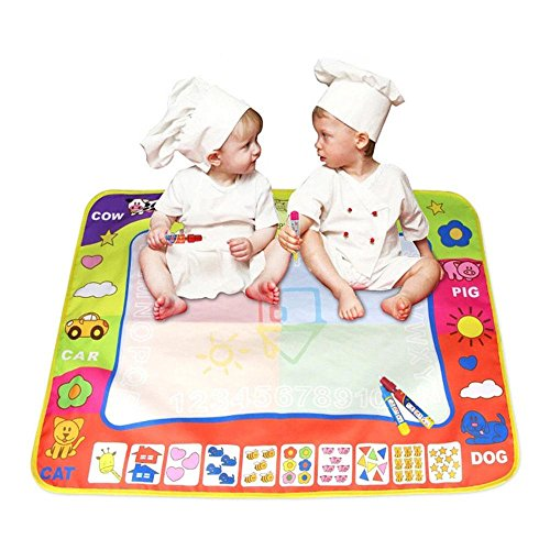 80X60cm Baby Drawing Writing Board Water Painting Doodle Canvas - 8