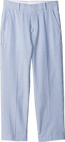 Tommy Hilfiger Big Boys' Flat Front Dress Pant, Regatta Blue, (Seersucker Flat Front Pants)