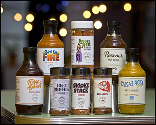Barbecue Gift Box Set - The Ocho - Gentry's BBQ - 4 Sauces, 4 Rubs - Low-Sodium Gourmet Mop Marinades for Meats and More